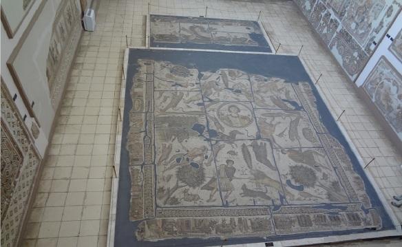 The mosaics on the floor are splendid.