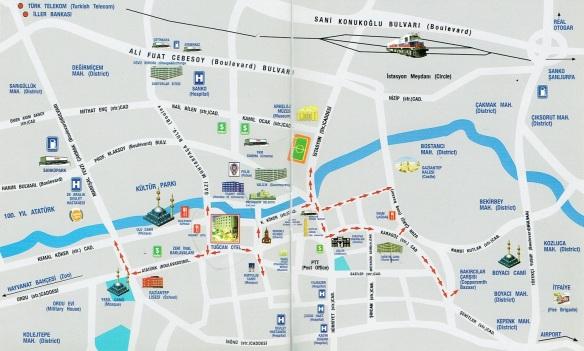 Gaziantep town map