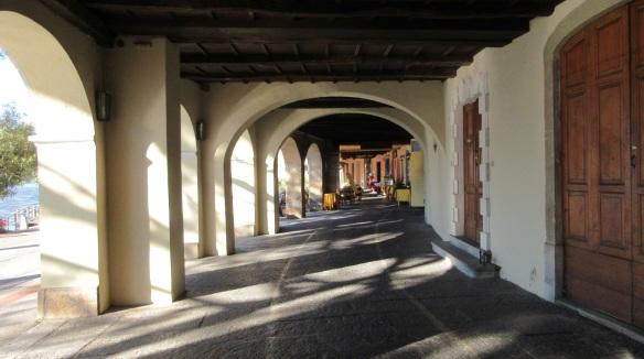 Portico of Morcote; Going to the Church of Santa Maria del Sasso through the Portico