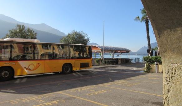 Bus stop near the pier