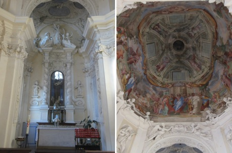 Altar and ceiling paintings of the Chapel
