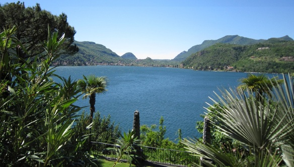 Lake Lugano, view from the Scherrer Garden