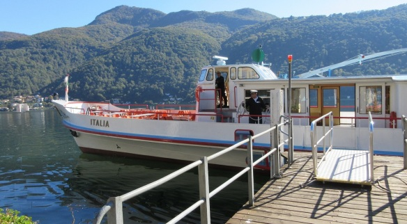 Leaving Melide for Lugano by this ferry.