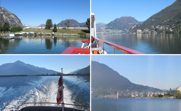 From Melide Sailing for Lugano