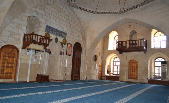 Interior of Şirvani Mosque