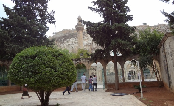 The gate of the Mevlid-I Halil Mosque.