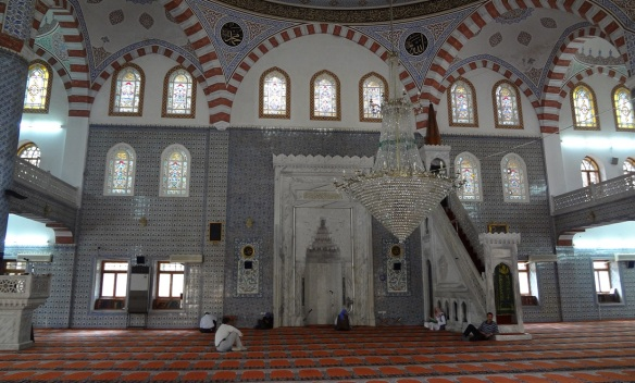 The inside of Mevlid-I Halil Mosque, very beautiful.