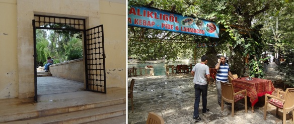 The exit of the mosque and the cafe near the Pool of Ayn Zelîha's Tears.