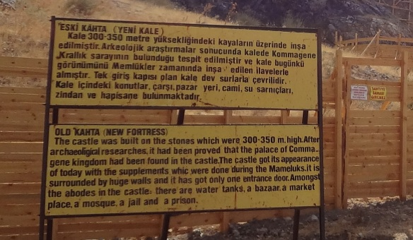 Explanation board of Yeni-Kale (New Casttle) Kocahisar.