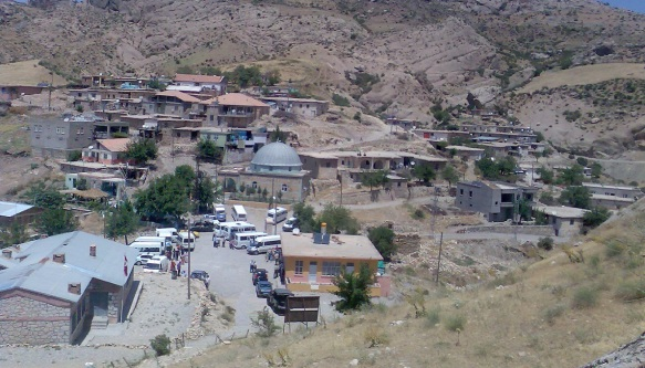 The village centre of Kocahisar from the castle.
