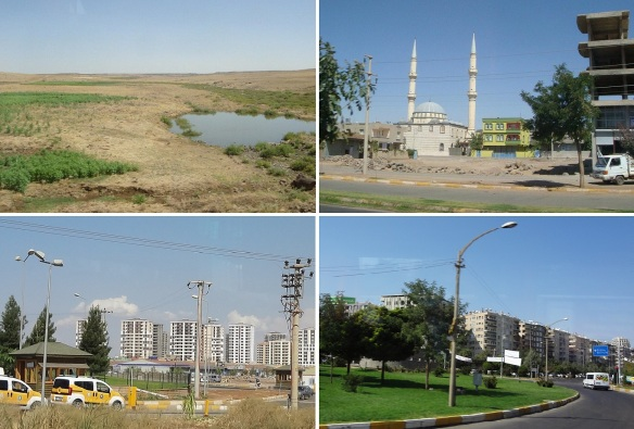 Running in the wasteland, passing through a small town and getting into the city of Diyarbakır.