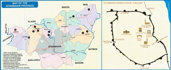 The Map of the Diyarbakır province / Diyarbakır inner citadel.