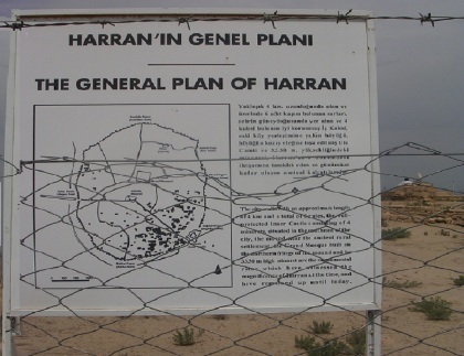 Harran Genel Plan; Entering into the ruins of Harran.