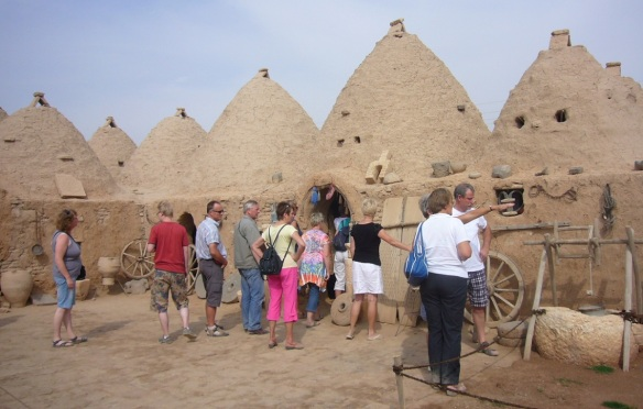 Since the Harran ruins is famous, tourists come from all over the world.