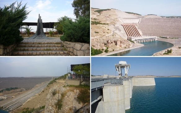 The monument, power plant, observatory and lake of Atatürk Dam