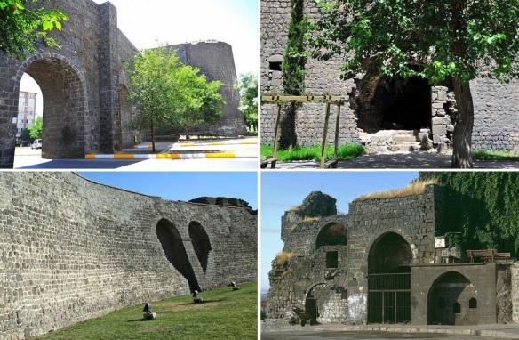 Gates and walls of the Diyarbakır citadel