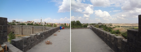 Open space on the Diyarbakır citadel walls.