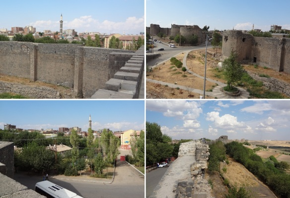 Views of the Diyarbakır town from the citadel walls.