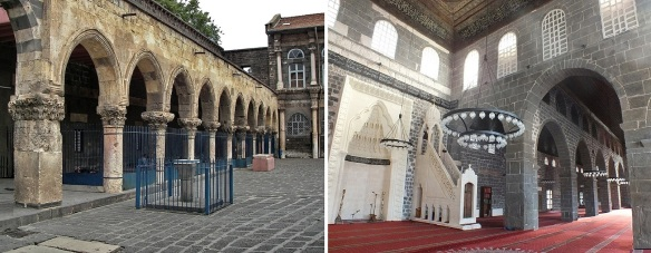 Courtyard and interior of the mosque of Ulu Cami Diyarbakır