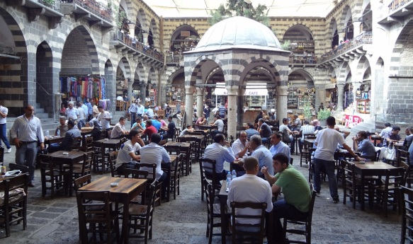 Courtyard of the caravanserai, now it's a café.