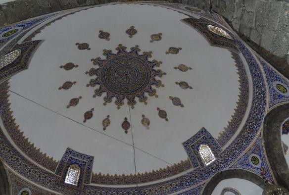 Ceiling of Parlı Safa Camii is very beautiful.