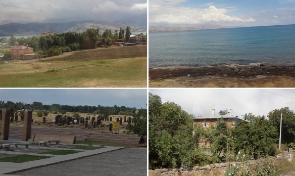 Photos of Bitlis, Van Lake and old tombstones and street of the Ahlat Town.