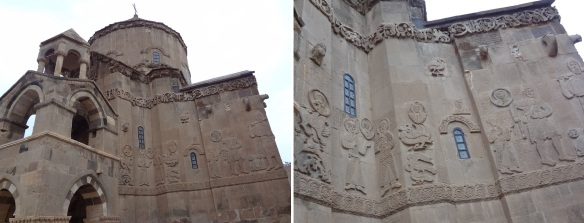Holy Cross Church and its relief of the outer wall.