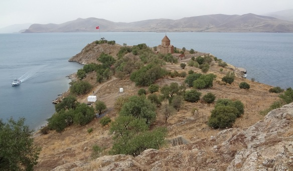 Stunning view of Akdamar Island on Lake Van