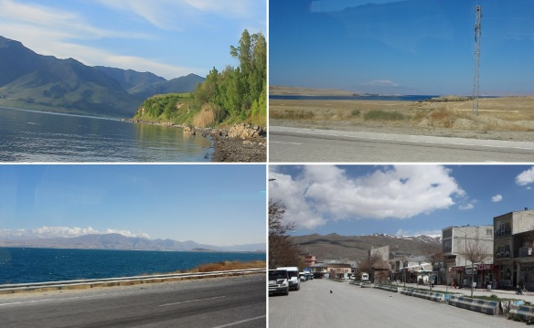 Scenery from the Van Lake to the village of Muradiye.