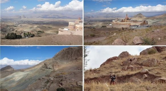 Strolling around the Ishak Pasha Palace