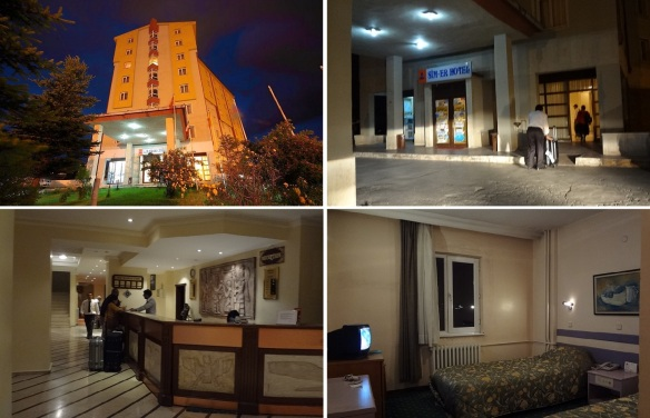 "Arrived at the booked ""Sim-er Hotel Kars"" at night."