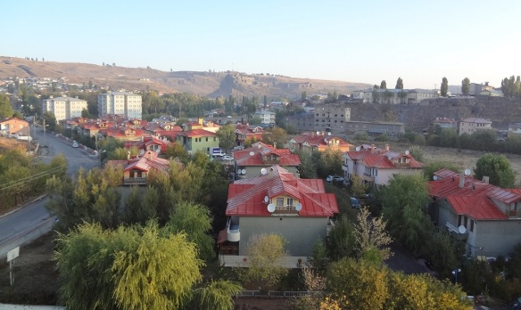 Town of Kars; view from hotel room next morning.