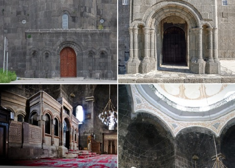 Entrance and interior of the Armenian Church (Holy Apostles Church)