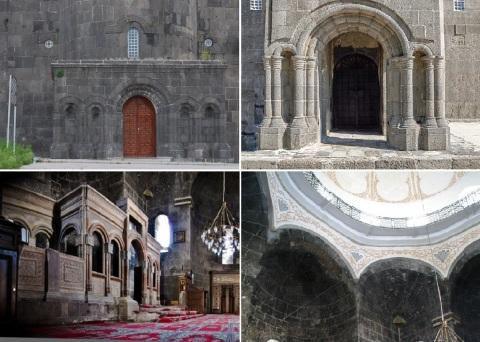 Entrance and interior of the Armenian Church (Holy Apostles Church)