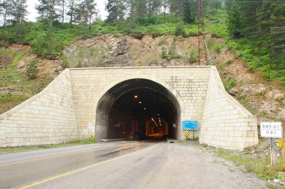 North entrance of the Zigana Tunnel