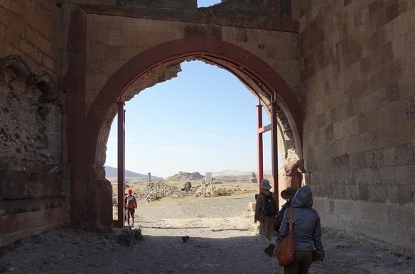 Through the Lion Gate into the ruins