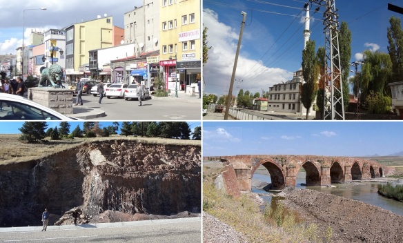 Street and mosque of Kars, Picked up some obsidians near Sarikamis Town, Çobandede Bridge