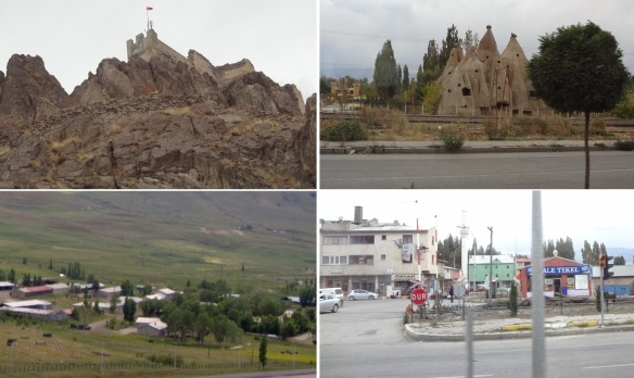 Hasan Castle and displaced Osman famous fairy chimneys in the village of Pasinler. Getting into the city of Erzurum.