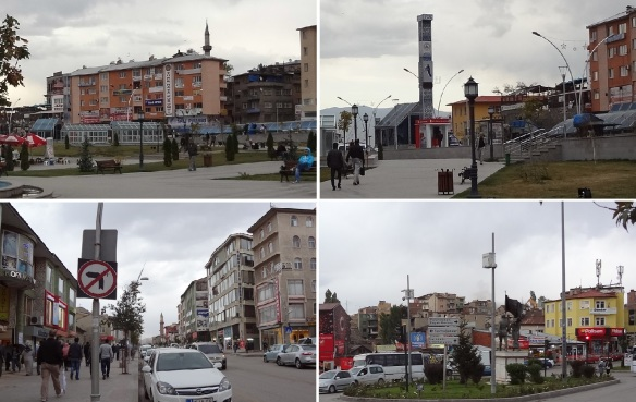 Scenery of the town of Erzurum; After exploring in the city of Erzurum, going to the reserved hotel.