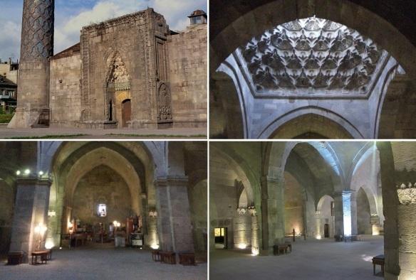 Yakutiye Medresesi (Madrasa); entrance, ceiling alter and nave.