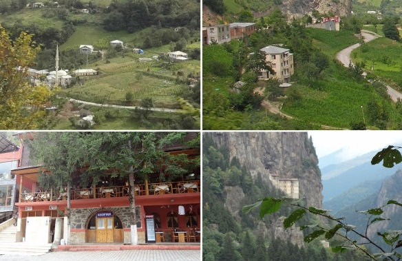 Passing through small villages, had lunch in the Cosandere Restaurant, then Sumela Monastery came into view.