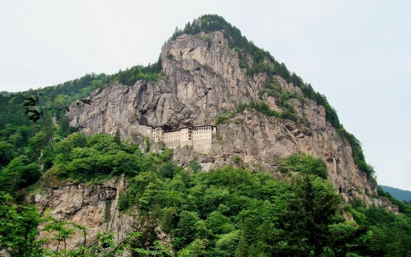 Sumela Monastery on Melá Mountain