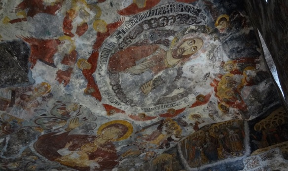 Fresco on the ceiling of the church.