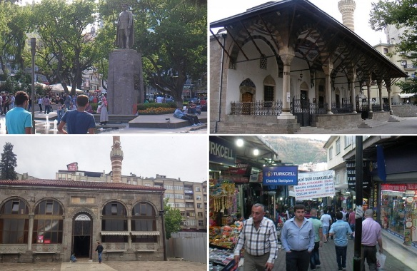 Trabzon city center, Gulbahar Hatun Mosque, Iskenderpasa Mosque and Pazar (Bazaar)