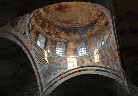 Frescoes in the dome