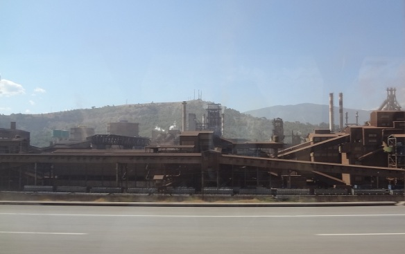 Arrived at the town of Karabük, huge steel factory appeared.