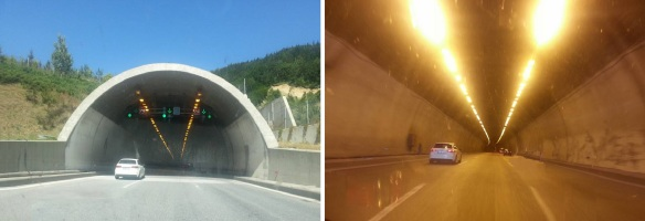 Passing through the Mount Bolu Tunnel.
