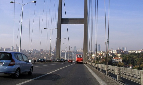 Arrived at Bosporus Bridge Istanbul