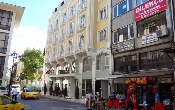 Hotel Redy Diana Istanbul; This hotel is just a 3-star hotel. But the scenery from the hotel restaurant was very good.