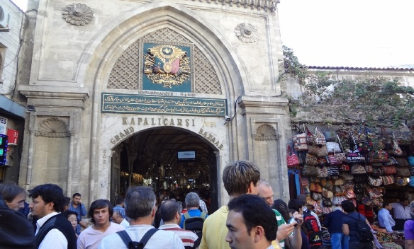 Arrived at the gate of Grand Bazaar (Kapalıçarşı)